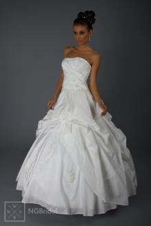 Hochzeitskleid Nr 1802, ein feiner Einteiler aus elegantem Taft. - 1802