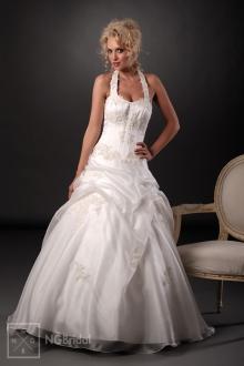 Bezauberndes Duchesse-Brautkleid mit Neckholder - 101017