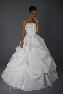 Hochzeitskleid romantisch Duchesse Stil - Taft & Spitze - 1807