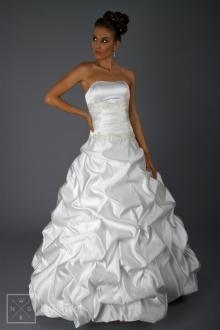 Hochzeitskleid - Brautkleid mit gerafftem Rock - 1811
