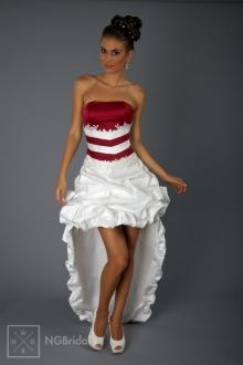 Kurzes Brautkleid mit abnehmbarer Schleppe  - 1825