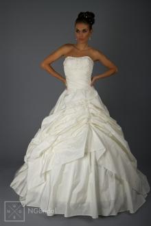 Einteiliges Brautkleid Duchesse Stil aus Taft & Spitze\ - 1813