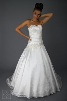 Hochzeitskleid A-Linie - Brautmode Taft & Spitze - 1817