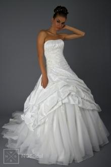 Brautkleid Duchesse Stil aus Taft, Tüll & Spitze - 1816